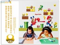 classical game wall decals super mario wall sticker boys room decals zooyoo7062 kindergarten home decoration 50x70