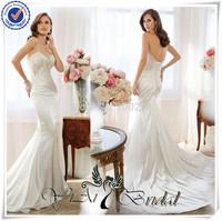 WDQ142 Beautiul Ivery Sexy Taffeta Wedding Dresses Made In China