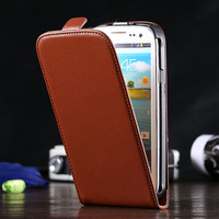 Fashion Deluxe Korean Style Real Genuine Leather Case For Samsung Galaxy S3 III i9300 Cover Classic Vertical Flip Elegant SC012T