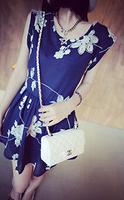 Free shipping 2015 new  Korean high-end fashion temperament summer embroidered cotton sleeveless dress  QZ1234