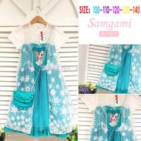 z03449 Wholesale Girl Frozen Dress ELsa princess dress Kids costumes Free shipping