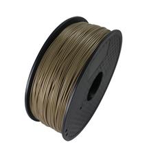 Aureate Color 3D Printer Filament ABS 1.75MM 1KG plastic Rubber Consumables Material MakerBot/RepRap/UP/Mendel