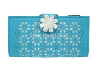 Fashion Women Wallets Ladies Clutches Purses Handbag Color Aqua Blue