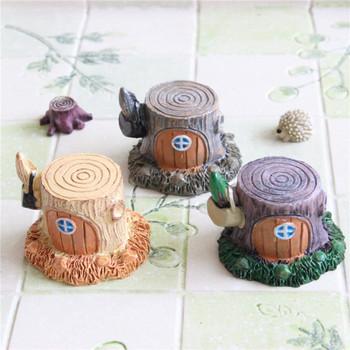 Розничная одна часть DIY корень дерева дом смолы фантазии миниатюры волшебный сад террариум домашнего декора ремесла бонсай реквизит