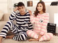 Autumn and winter plus thick velvet long-sleeved flannel lovely princess coral velvet tracksuit couple Pyjamas