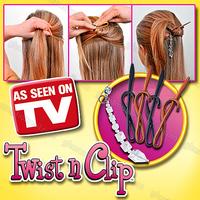 Wholesale 45Sets/lot Black brown Pendants Simple Multifunctional Magic Hair Clip Hairdisk Hair Device Twist N Clip Styling Tool