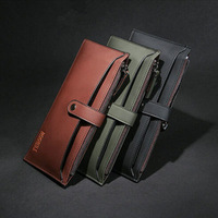 2014 Hot fashion Imitation leather men wallets clutch casual money clip men wallets and purses gifts for men free shipping