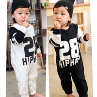 Hot Sale!28 Design Fashion Baby Romper Clothing Personality Infant Climb Clothes Cotton Wool Jumpsuit Cute Fashion Climb Clothes