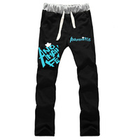 NEW ANOHANA Yadomi Jinta Honma Meiko Cosplay Trousers male&female cotton loose thick warm sport pants Anime for boys&girls