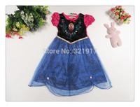 z03451 Wholesale Girl Frozen Dress Baby girl dress children party dressKids costumes Free shipping