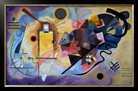 Yellow Red Blue by Wassily Kandinsky painting, Oil on canvas,handmade,High quality size 44x27.75inch
