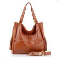 2015 New genuine leather Tassels Handbag Women Leather Handbag shoulder bag messenger bag for women Hot selling leather bags 363