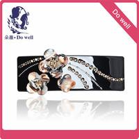 Headwear flower  diamond hairpin  spring clip french hair clip barrette metal hair barrettes