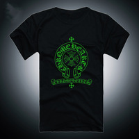 Men Muscle hip hop Night Light Neon Print emoji t shirt/Party&Club Freedom Novelty Rock punk Boy london Chrome symbol Tshirt