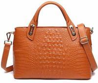 New genuine leather bag hot shoulder bag fashion alligator pattern tote crossbody bag trendy women handbag BK039