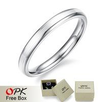 OPK Brand Trendy Simple Design Women Finger Rings Fashion New 2015 Silver/Black/Gold/Rose Gold Full Steel Jewelry Gift Cheap