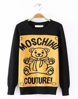 New 2014 autumn and winter women Mercerized wool sweet cartoon bear knitting sweater #QJJ399