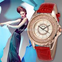 Kezzi Wristwatch Women Rhinestone Watch Casual Leather Strap Watch Quartz Clock Ladies Fashion Watches Relogio Feminino