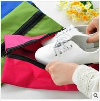 Travel Outdoor Portable Shoe Storage Box Organizer Waterproof Zipper Shoes Bag