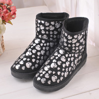 Free Shipping! Fashion skull head printing new  women Snow Boot short Boots new Design snow  Winter shoes Y boots