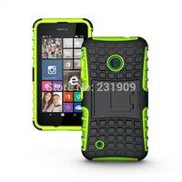 Dual Armor Hybrid Curve PC+TPU Gel Impact Hard Protective Cover With KickStand Case For Nokia Lumia 530 Via Free Ship