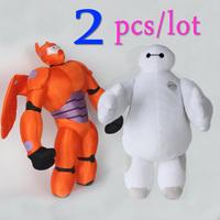 2pcs/lot Now 2015 Big Hero 6 Baymax Toys High Quality Fat Balloon Man Stuffed Dolls Plush Soft Toys Brinquedos Birthday Gifts