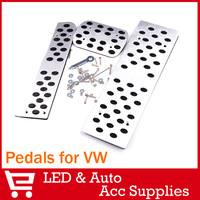 Car Pedal Pads Cover Stainless Steel for VW CC ,Golf 6 Jetta MK5 Mk6 Passat B6 2006-2010,Touran Tiguan AT Model