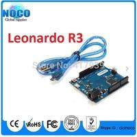 5sets/lot Leonardo R3 development board Board + USB Cable compatible for arduimo