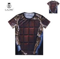 [Magic] Metal Texture Latice Wall Hot style Men's 3d t shirt good quality print tshirt short sleeve casual t-shirt LY239 free