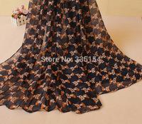 Women Fox Animal Pattern Scarf Fashion Cotton Voile Scarf 2Colors 10PCS/lot FREE SHIPPING