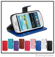 Retro Crazy Horse Stand Wallet Leather Case for Samsung i8190 Galaxy S3 III mini