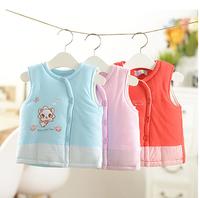 2014 New Winter Newborn Baby Vest Thick Cotton Baby Boy Vest Thermal Waistcoat Baby Girls Waistcoats for 0--2 years