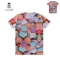 [Magic] Women's new short sleeve o neck casual t-shirt Sweet 3d t shirt women cotton tshirt LY240 free shipping