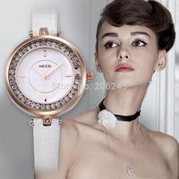 Kezzi Montre Femme White Color Fashion Women Rhinestone Watch Casual Sport Dress Watch Relogio Women Quartz Watches