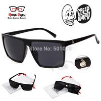 Brand New 2015 Steampunk Square Vintage Sunglasses Men SKULL Logo All Black Coating Glasses Women Retro oculos de sol masculino