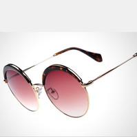 2015 New Retro Metal round UVA, UVB UV400 Ultraviolet Prevention Wayfarer Men&Woman Sunglasses Shades Oculos De Sol