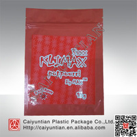 Free shipping !!! newest klimax 3xxx red rave herbal incense bag