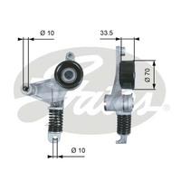 Element Drive Belt Auto Tensioner+Serpentine Belt Complete Repair Kit for TOYOTA  CAMRY ACV40 2AZFE 2.4L