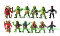 Wholesale 50 sets of 300 dolls TMNT New version of the Teenage Mutant Ninja Turtles action figure Free shipping