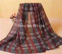 2015 Women Chevron Pattern Scarf Geometry Zigzag Pattern Scarf Fashion Cotton Voile Scarf 5PCS/lot FREE SHIPPING