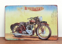TRIUMPH  Home Decoration Retro Tin Signs Wall Art decor Bar Vintage Metal Craft Painting Wall Stickers Plaque