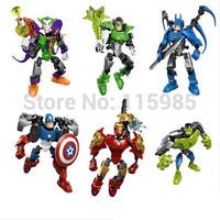 The Avengers Superheroes Cityheroes IRON MAN X-MEN BATMAN Hulk Captain blocks DIY figure robot toys Compatible boy gift puzzles