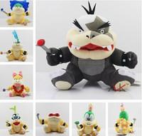 Free shipping 7pcs/lot 7styles Super Mario Bros Koopa Plush Toys Wendy LARRY IGGY Ludwig Roy Morton Lemmy O.Koopa cute doll