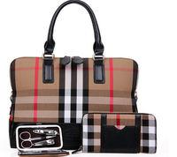 2014 Winter Vintage gird  Bag For Women Ladies Leather shoulder Bags  Black Handbag with wallets  nail clipper set  276D