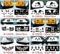 Free shipping (4pcs/lot) 6 styles funny cartoon sticker for car Rear view mirror side door mirror sticker car styling