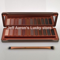 12 Naked Colors Eyeshadow Platte Set With Makeup Brush And Mirror Eye Shadow Beauty Tool