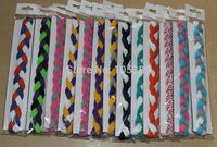 700pcs children's 3 ropes braided mini headband