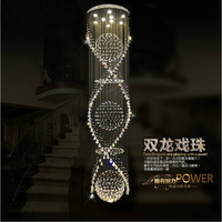 New design modern luxury crystal chandelier lighting stair lamp for villa hotel lobby  + Free shipping