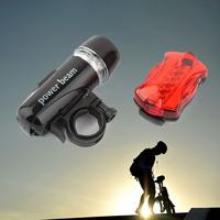Sport Lighting Waterproof LED Bike Head Flash Front Light Torch + Night Rear Flashlight Warning Cycling Bicycle 5 LED Lamp Light