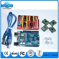 cnc shield v3 engraving machine 3D Printer+ 4pcs A4988 driver expansion board for Arduino + UNO R3 with USB cable